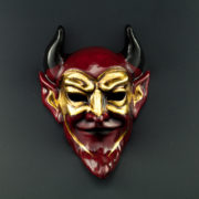 red devil gold mask