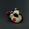 colombina clown white black side