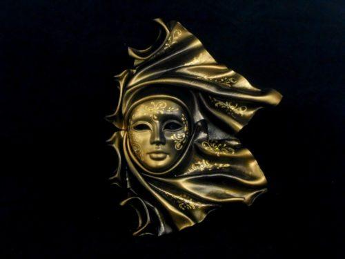 "leathe mask ""vento"" ceramic big"