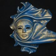 "leathe mask ""vento"" ceramic big blu"