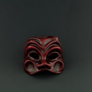 mask harlequin red
