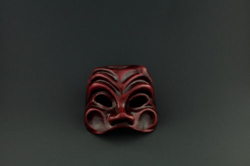 mask harlequin red