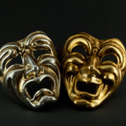 tragedy commedy silver and gold