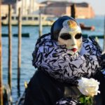 Pierrot with rose